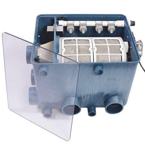 Transparenter Deckel Aquaforte AFT-1 Drumfilter Trommelfilter