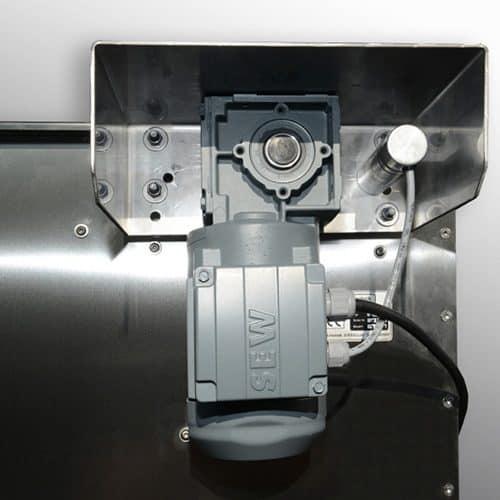 Woodland EBF 50 mit sehr strakem 230 V Getriebemotor.