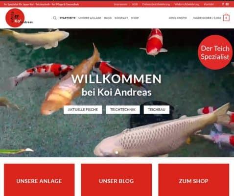 Koi Andreas Website